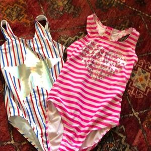 Bundle set 2 gap kids one piece bathing suit med 8
